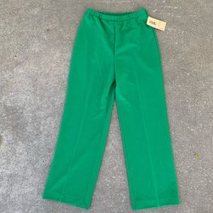 NWT Vintage Bright Green Flare Pants